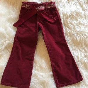 Old Navy | Red velvet like pant in Size 4T